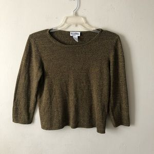 Vintage Gianni 3/4 Sleeve Knit L